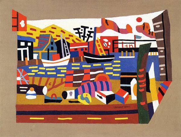 stuart davis | stuart davis gloucester harbor 1938