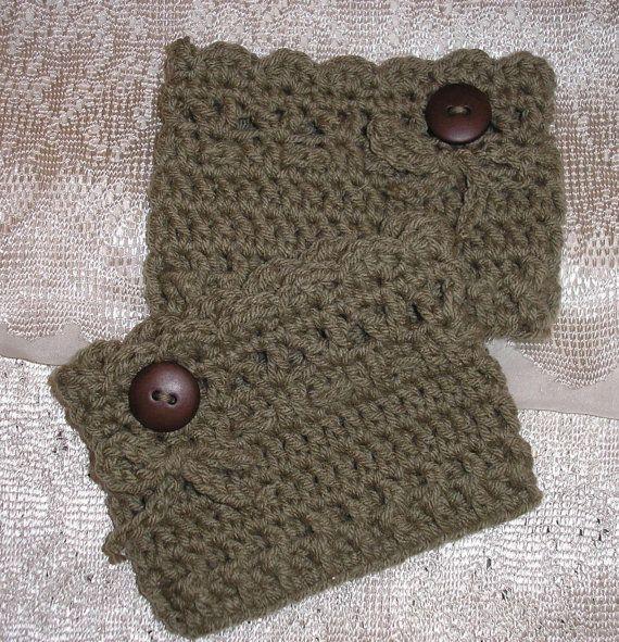 Free Crochet Boot Cuff Pattern   Crochet Boot Cuff/Topper/ Leg Warmer/ Womans/Miss/.Teen / Handmade ...