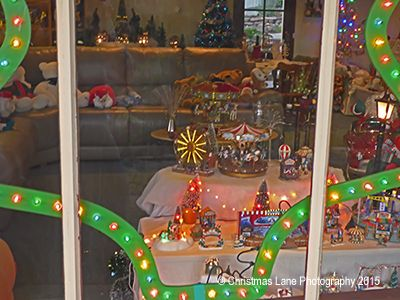 One of our windows from which visitors can view our Christmas Displays