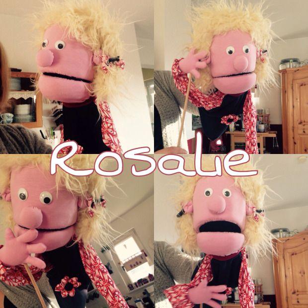 meine neue Klappmaulpuppe Rosalie...