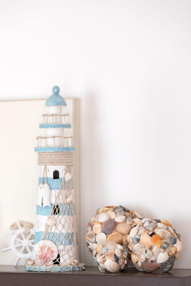Selbst gemachte Dekokugeln aus Muscheln – Basteln mit Muscheln  – Martime Dekoration // DIY seashell ball Sweets & Lifestyle®️️