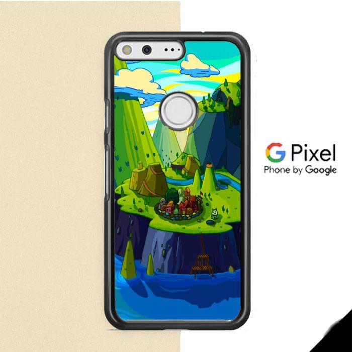 Cartoon Mountains Rivers Google Pixel Case