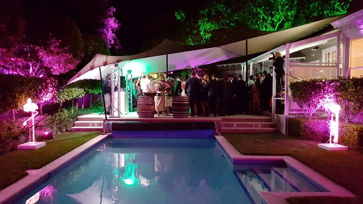 Gorgeous wedding by night in Remuera, December 2015