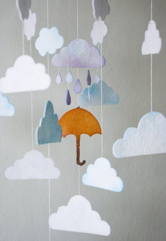 Singin In The Rain  orange umbrella (proj. Bahama Mama), do kupienia w DecoBazaar.com