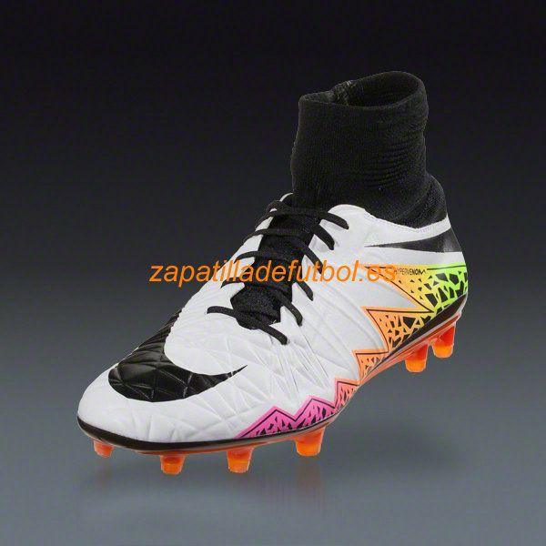 best sneakers 37624 82433 Venta al por mayor Tacos de futbol Nike Hypervenom Phatal II DF FG Blanco  Naranja Total ... negro  nike magistax proximo ii ic soccer ...