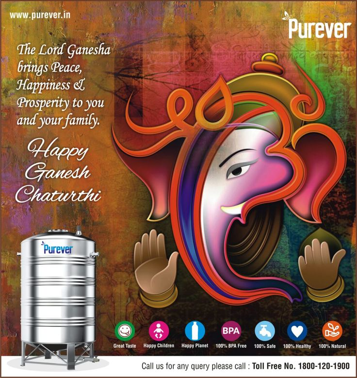 #Purever#wish#you#Happy# Ganesh# Chaturthi#Switch to Purever Stainless Steel Water Tank#http://www.purever.in/