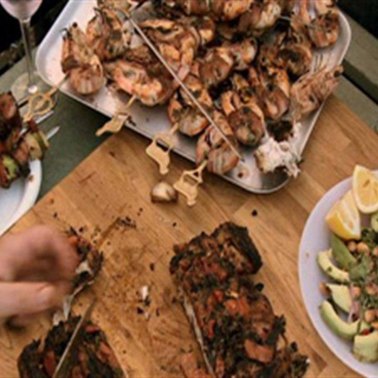 Try this Shashlik, Skewered Fillet of Beef with Mushrooms, Capsicum and Smokey Bacon recipe by Chef Adrian Richardson. This recipe is from the show Boys Weekend.