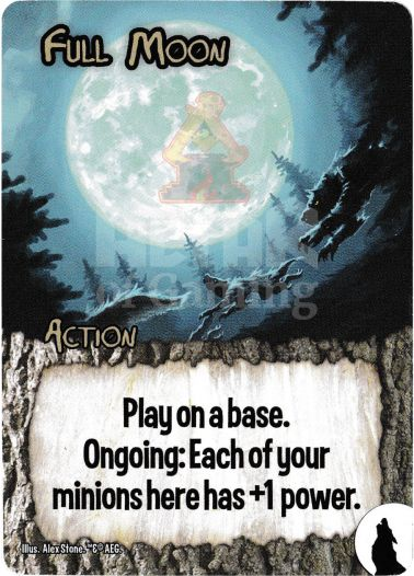 Full Moon - Werewolves - Smash Up Card | Altar of Gaming