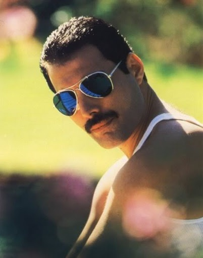 Freddie Mercury, Queen frontman, rock legend. Wish you were here, Freddie!