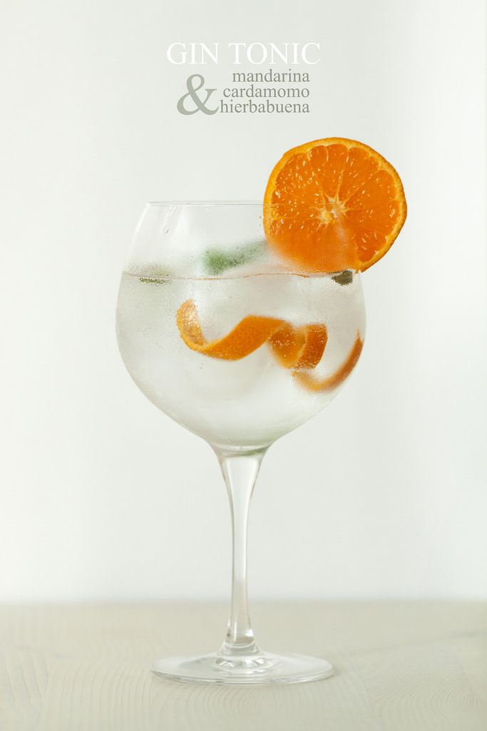Gin tonic: mandarina, cardamomo & hierbabuena - Lost in Cupcakes