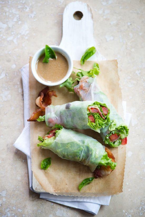 ETC INSPIRATION BLOG ART DESIGN HOME FOOD QUOTES RECIPE Bacon Lettuce Tomato BLT Spring Roll