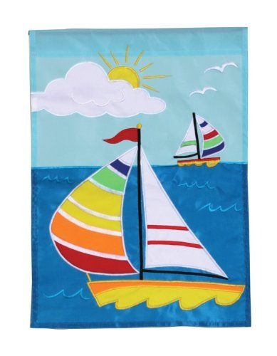 Sail Away House Applique Flag by Toland Home Garden. Save 59 Off!. $16.28. Heat sublimated process permanently dyes flag fabric for long-lasting color. All Toland Flags are machine washable. Decorative Art Flag. Toland Flags are made from durable 600 denier polyester. Toland Flags are UV, Mildew, and Fade Resistant. Sail Away Standard Applique Flag 28 by 40
