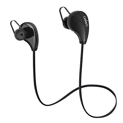 AELEC S350 Bluetooth Headphones Wireless In-Ear Sports Earbuds Sweatproof Earphones Noise Cancelling Headsets with Mic for Running Jogging Black