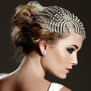 Art Deco crystal headpiece from Johanna Johnson