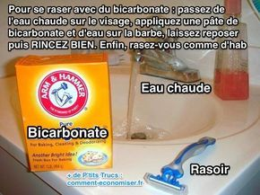 Le rasage avec du bicarbonate permet de se raser de plus près et avec moins d'irritation. Découvrez l'astuce ici : http://www.comment-economiser.fr/se-raser-avec-du-bicarbonate.html?utm_content=buffer59983&utm_medium=social&utm_source=pinterest.com&utm_campaign=buffer
