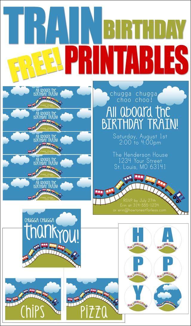Train Birthday Party With Free Printables Digi Freebies Trains Thomas Parties Themes