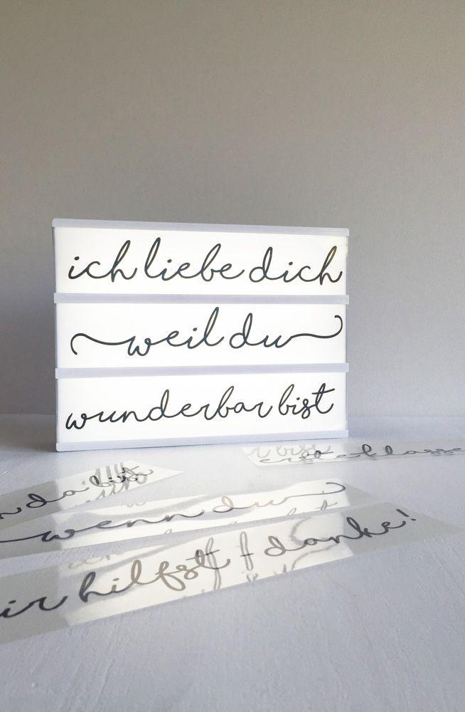 Lightbox-Liebesbotschaft ✪ endlich mehr Text und mehr Möglichkeiten (DIY & Printable)