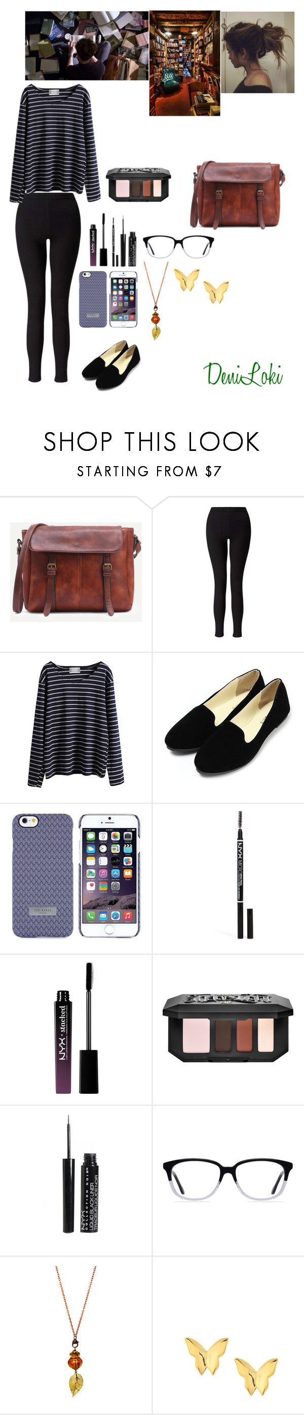 """Bookstore Date w/ Dr. Spencer Reid"" by deniloki ❤ liked on Polyvore featuring Miss Selfridge, WithChic, Ted Baker, NYX, Kat Von D, Ace and Mminimal"