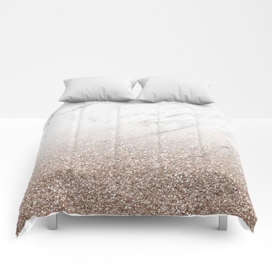 Comforter For Your Rose Gold Bedroom Decor Glittery