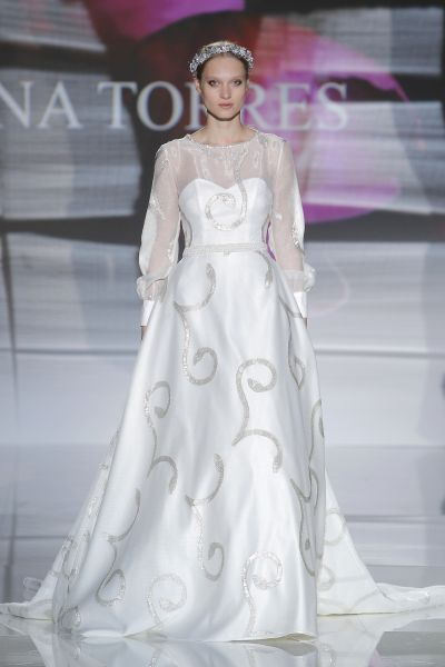Vestidos de novia manga larga 2017: 60 diseños elegantes y con mucho estilo Image: 55