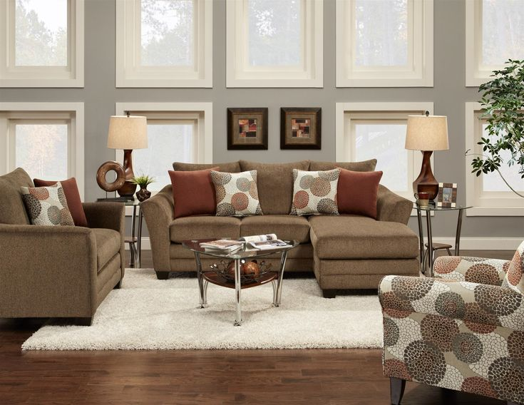 Bella   Living Room Set   9720 Cornell Cocoa Set