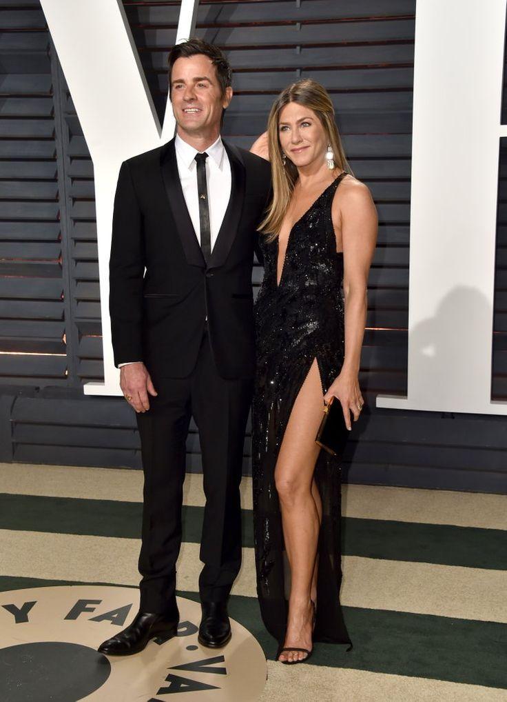 Jennifer Aniston and Justin Theroux 2017 Oscars Afterparty | POPSUGAR Celebrity