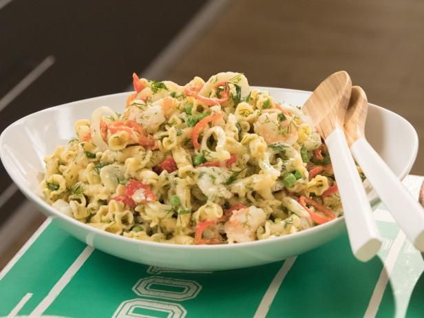 Get Creamy Shrimp Pasta Salad Recipe from Food Network