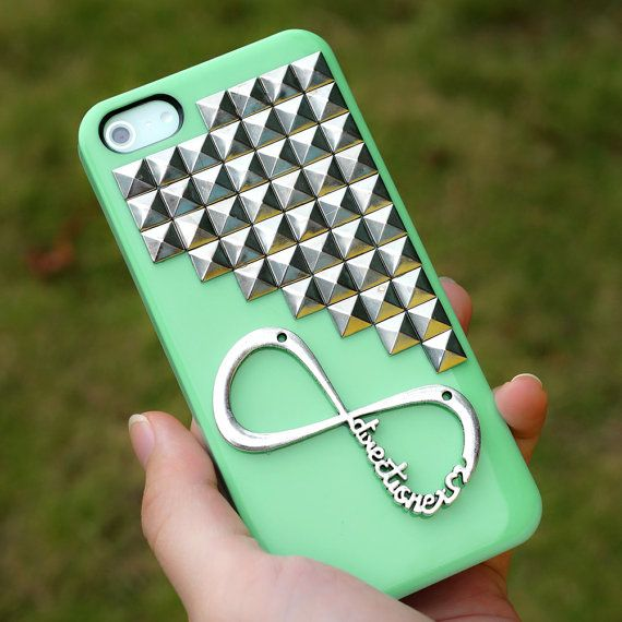 Infinity Sign iPhone Case - One Direction Galaxy S2 , S3, S4 Case - Infinity Studded iPhone 4 /4S/5 Case Cover