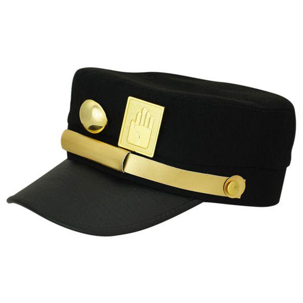 JoJo's Bizarre Adventure black hat cosplay Kujo Jotaro baseball caps... ($25) ❤ liked on Polyvore featuring accessories, hats, ball cap, animal cap, baseball caps hats, animal hats and baseball hats
