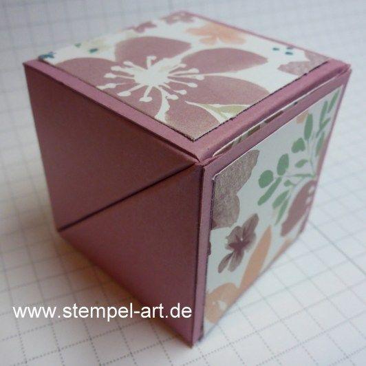 """Die Anleitung für die """"raffinierte Box""""…   StempelArt"""