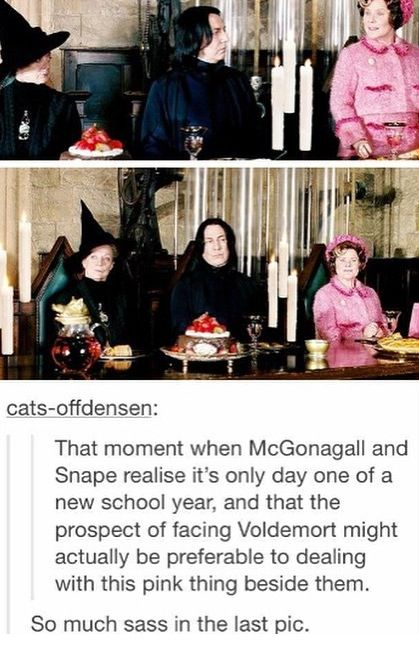 Well at least McGonagall doesn't get to seat beside Umbridge