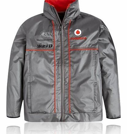 McLaren Vodafone McLaren Mercedes Teamwear Collection Kids Junior Waterproof Jacket Our younger fans can show their support in this Team jacket throughout the 2013 Formula 1 World Championship. This lightweight jacket comes with mesh linings, a concealed (Barcode EAN = 5060082118937) http://www.comparestoreprices.co.uk/formula-1-merchandise/mclaren-vodafone-mclaren-mercedes-teamwear-collection-kids-junior-waterproof-jacket.asp