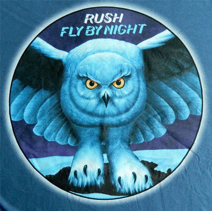 """New Rush """"Fly by Night"""" Classic Rock Band Vintage Lightweight Adult T Shirt   eBay"""