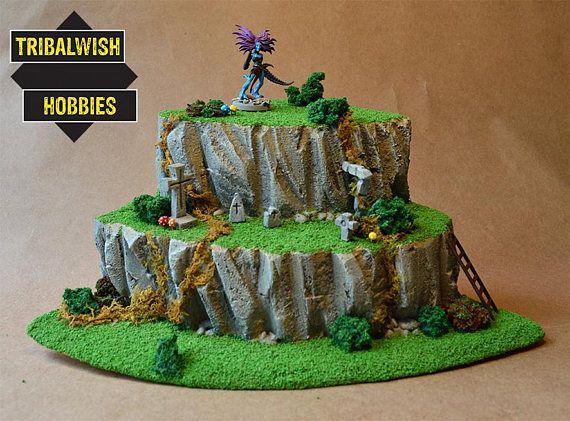 Large Cliff Corner - Wargaming Terrain, RPG, Custom, Warhammer, 28mm Terrain, Fantasy