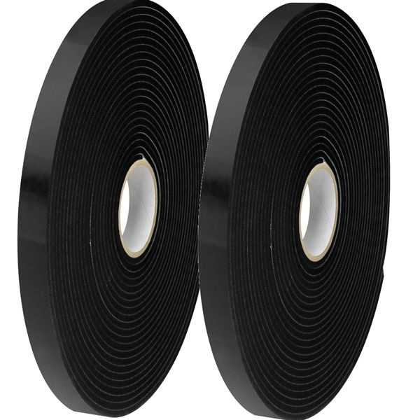 Tape Logic Double Sided Foam Tape 1 Inch X 36 Yard 1 16 Inch Thick Black Tapeplanet Tape Restoration Black