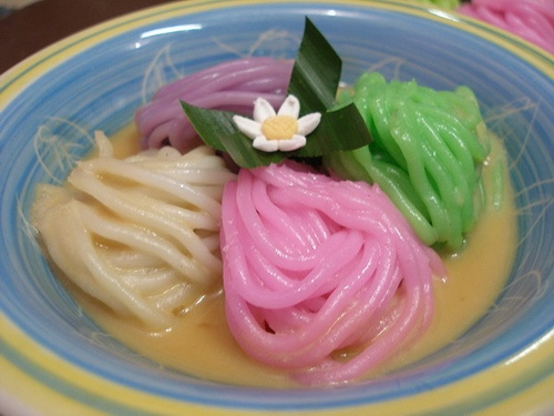 The colorful kue Putu Mayang from Indonesia