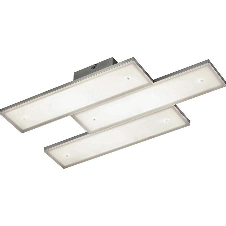 Trio LED-Deckenleuchte Denver 3-flammig Nickel matt dimmbar EEK: A-A++ Jetzt bestellen unter: https://moebel.ladendirekt.de/lampen/deckenleuchten/deckenlampen/?uid=1b9b4e57-be98-5f03-a35c-0d5830f47517&utm_source=pinterest&utm_medium=pin&utm_campaign=boards #deckenleuchten #lampen #wohnen>lampen #deckenlampen Bild Quelle: obi.de