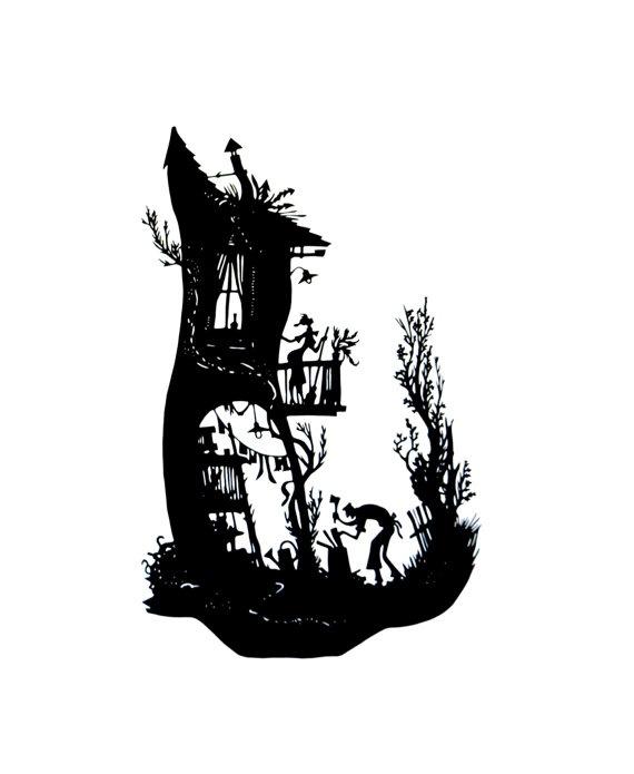 papercut silhouette HOUSEWORK
