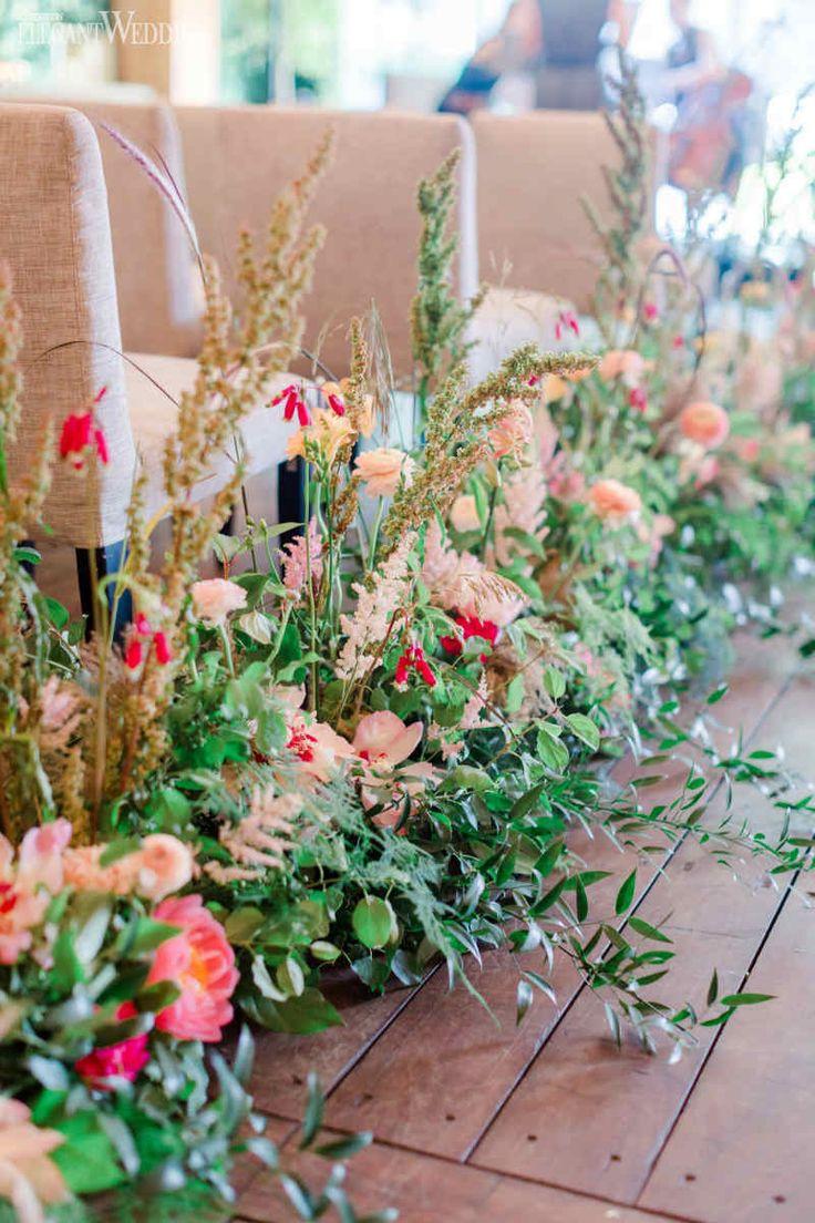 Greenery Aisle Flowers, Hochzeit Aisle Decor, Hochzeitszeremonie Blumen   Ein Burgun …   – Duong dan