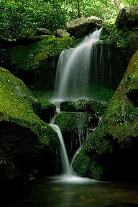 ^Waterfall -The Smokey Mountains, Virginia