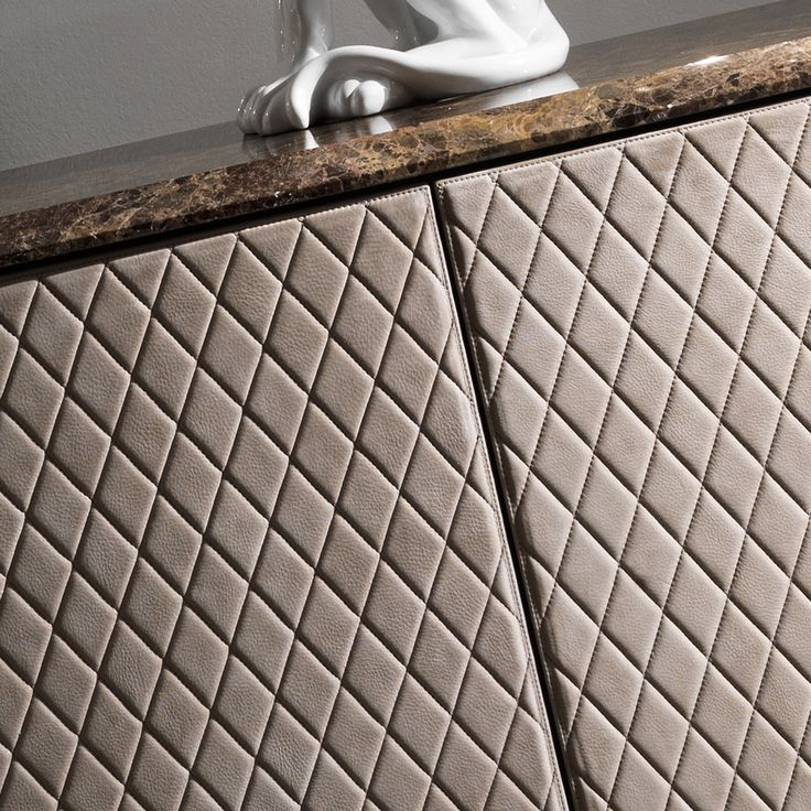 Curved High End Lacquered Quilted Leather Sideboard In 2019