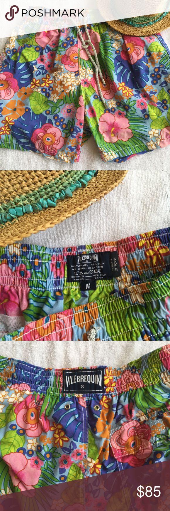 Fabulous Fantasy Floral VILEBREQUIN Men's Swimsuit Super beautiful colors!  Always handwahed. Vilebrequin Swim Swim Trunks