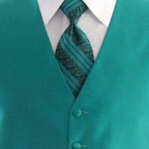 Teal for Groom and ushers....