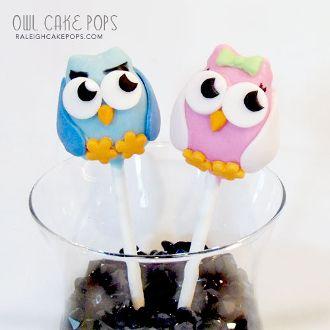 Owl Cake Pops .. Click to Shop