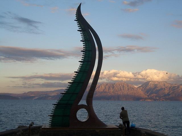 Statue in Agios Nikolaos Crete Greece