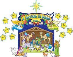 Nativity Scene Bulletin Board Set: Scene Bulletin, Bulletin Boards, School Ideas, Board Display, Nativity Scenes, Board Scene