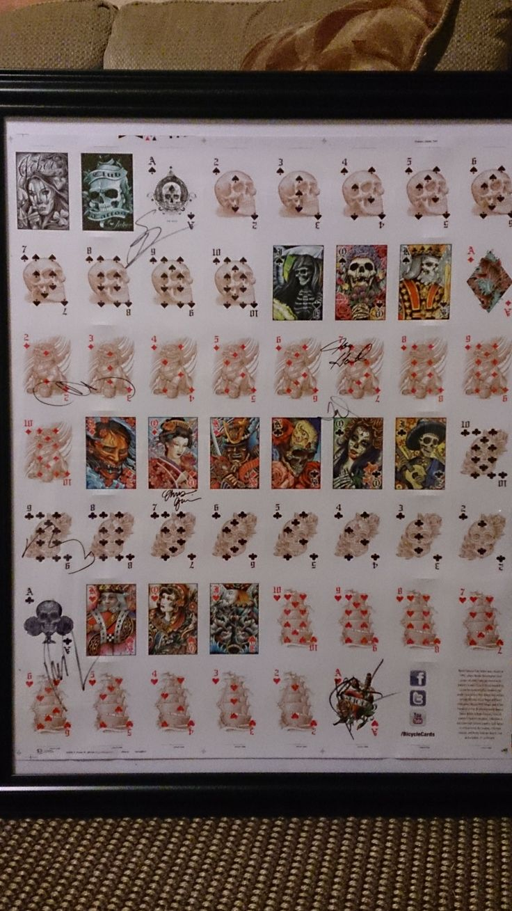 17 best images about my playing card collection on for Bicycle club tattoo deck