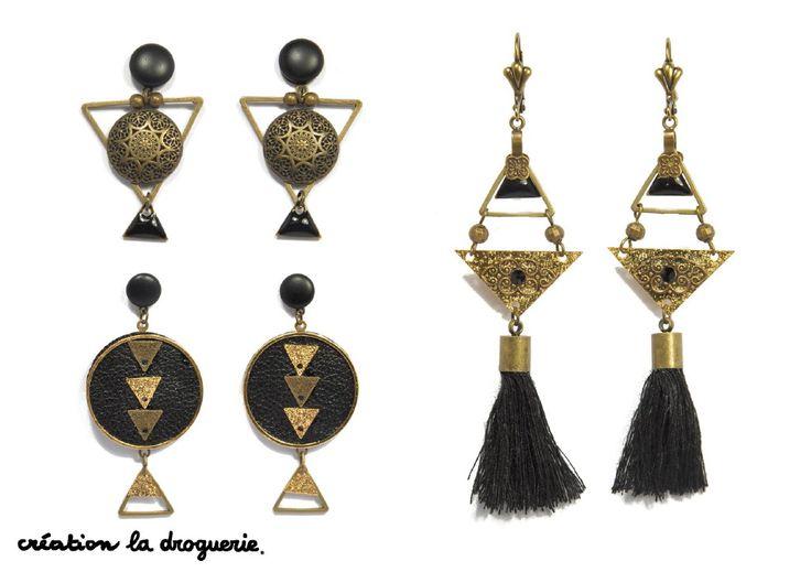 On aime le noir sur nos B.O, c'est toujours classe ! #ladroguerie #bijoux #bo