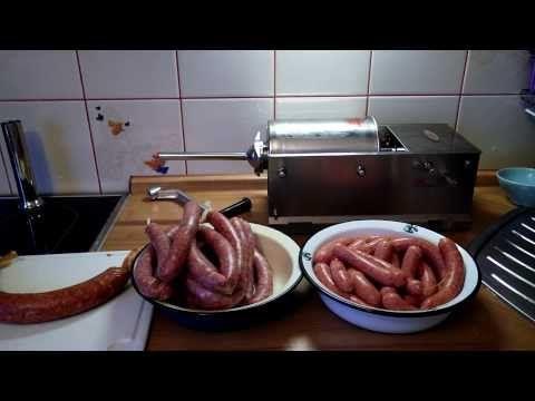 Колбасный шприц для дома. Готовим сосиски, купаты и колбасы в домашних условиях. - YouTube
