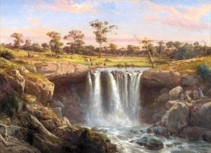 One of the Falls of the Wannon - Louis Buvelot